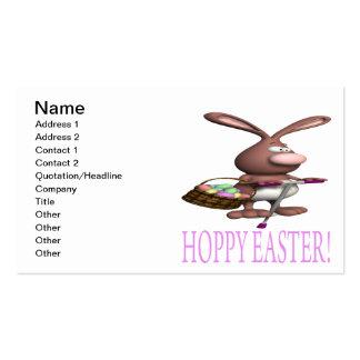 Páscoa Hoppy Cartoes De Visita