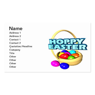 Páscoa Hoppy Cartão De Visita