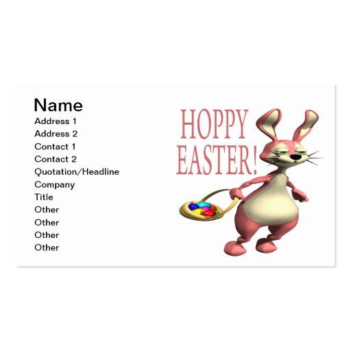 Páscoa Hoppy Modelos Cartão De Visita