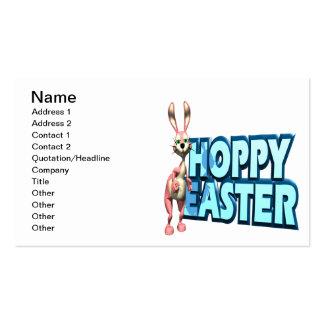 Páscoa Hoppy Modelo Cartões De Visita