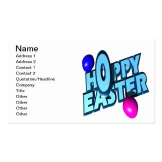 Páscoa Hoppy Modelos Cartoes De Visita