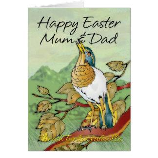 Páscoa - mãe & pai cartão comemorativo