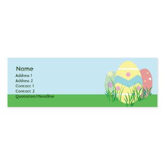 Páscoa - magro cartão de visita skinny