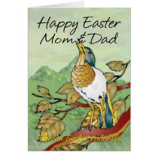 Páscoa - mamã & pai cartão comemorativo