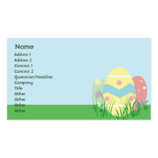 Páscoa - negócio cartão de visita