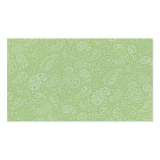 Páscoa Paisley retro verde Cartão De Visita