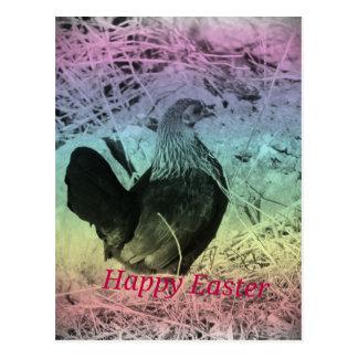 Páscoa pequena da galinha cartão postal