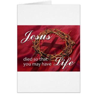 Páscoa religiosa cartão comemorativo