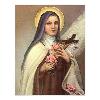 Páscoa religiosa do vintage, freira com cruz convite 10.79 x 13.97cm