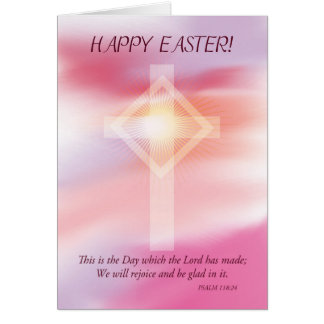 Páscoa transversal e cor-de-rosa do céu cartão comemorativo