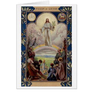 Pasqua di Guerra! Cartão de páscoa italiano do