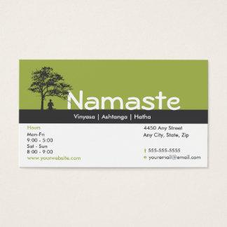 Passagem da classe do cartão de visita da ioga