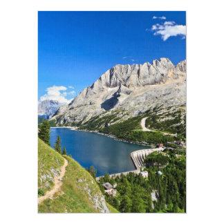 Passagem de Dolomiti - de Fedaia com lago Convites Personalizados