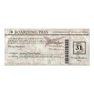 Passagem de embarque de Florida Convite 10.16 X 23.49cm