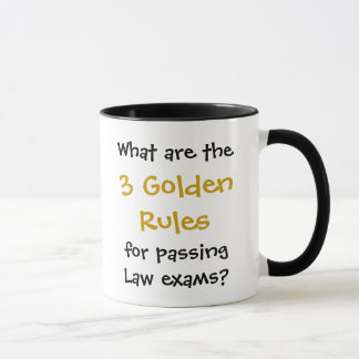 Passagem do exame da lei - caneca das citações da