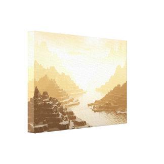 Passagem do rio da montanha de Misted Impressão De Canvas Esticadas