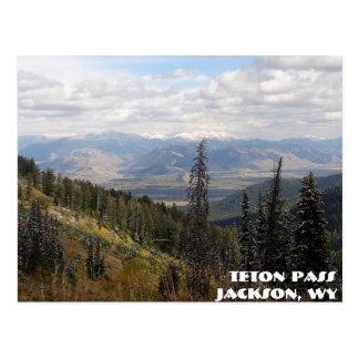 passagem do teton, passagem de Teton, Jackson, WY Cartão Postal