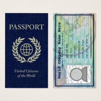 passaporte cartão de visitas