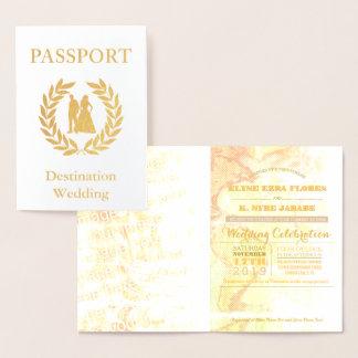 passaporte do casamento do destino cartão metalizado