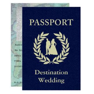 passaporte do casamento do destino convite 8.89 x 12.7cm