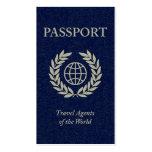 passaporte dos agentes de viagens modelos cartões de visita