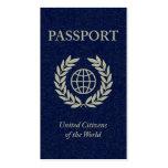 passaporte modelo cartão de visita