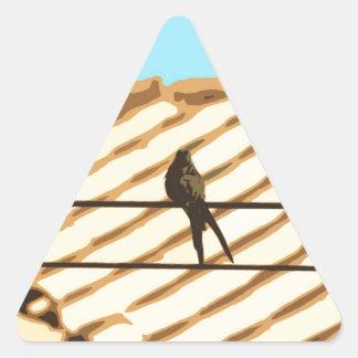 Passarinho Adesivo Triangular