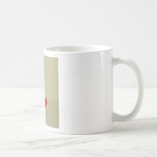 Passarinho com coração caneca de café