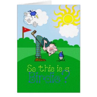 Passarinho do golfe do cartão do dia dos pais