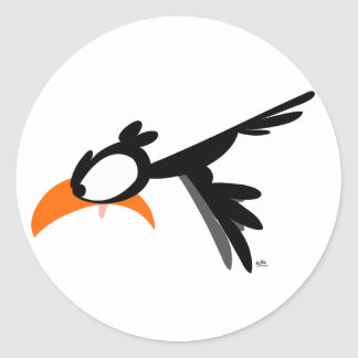passarinho do lil do Nariz-mergulho:) etiqueta Adesivos Redondos
