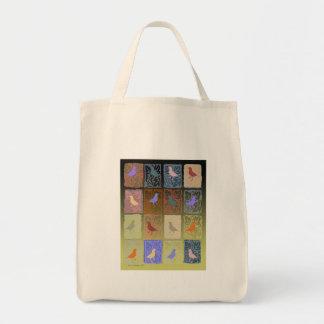 passarinhos com papel moldado bolsas