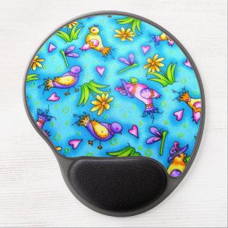 passarinhos de COM do imagem Mouse Pad De Gel