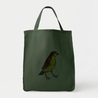 Pássaro amarelo bolsa para compras