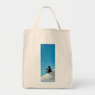 Pássaro bonito do divertimento da arte do pinguim  bolsa de lona