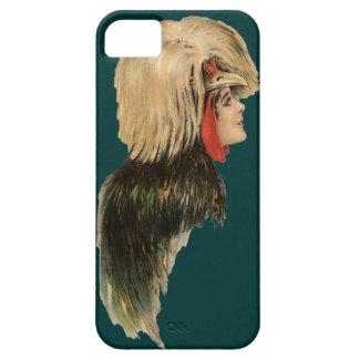 Pássaro com crista polonês da capa de telefone da capa para iPhone 5