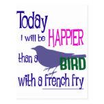 Pássaro com uma fritada francesa cartoes postais