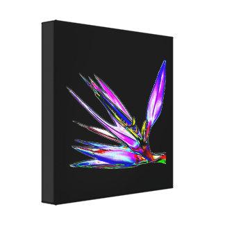 Pássaro da flor de paraíso (efeito colorido da fol impressão de canvas esticadas