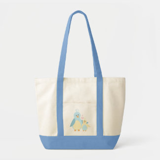 Pássaro da mamã e de bebê bolsa para compras