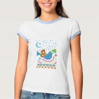 Pássaro da paz da arte do caminhão t-shirts