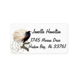 Pássaro das etiquetas de endereço animais dos