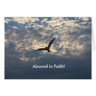 Pássaro de abundância da fé - cartão