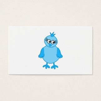 Pássaro de bebê bonito, azul cartão de visitas