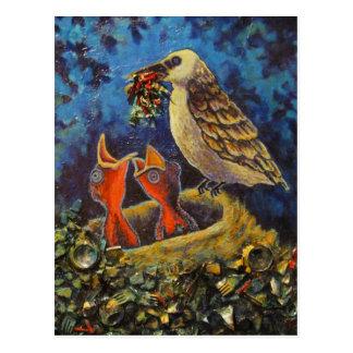 Pássaro de Momma, cartão da arte do reciclado