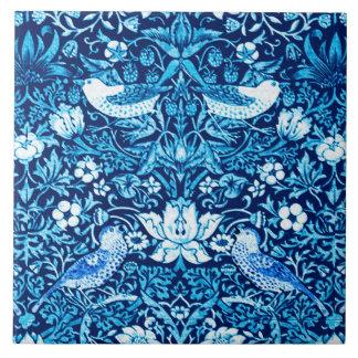 Pássaro de Nouveau da arte e tapeçaria da flor,