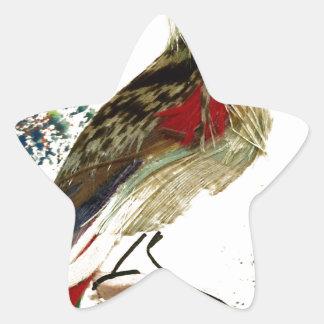 pássaro de pano adesivos estrelas