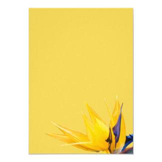 Pássaro de paraíso amarelo que Wedding o papel Convite 12.7 X 17.78cm