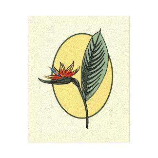Pássaro de paraíso impressão de canvas esticadas