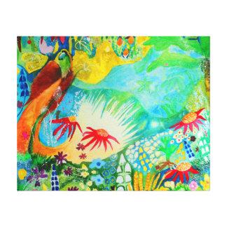 Pássaro de paraíso impressão em canvas