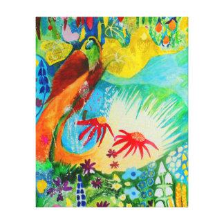 Pássaro de paraíso impressão em tela