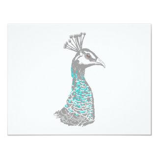 Pássaro de Peahen Convite 10.79 X 13.97cm